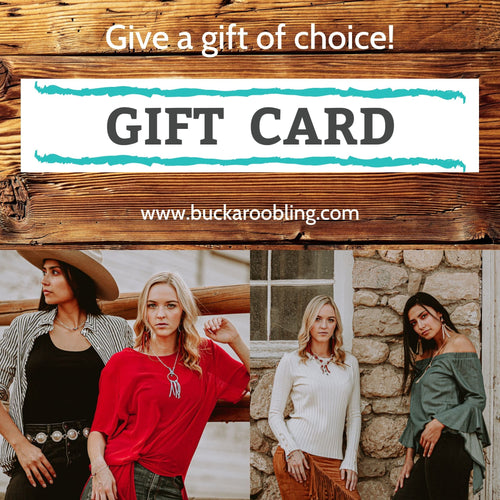 Gift Cards for Buckaroo Bling online store