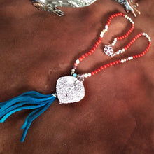 Load image into Gallery viewer, Aspen Leaf and Carnelian Necklace OOAK