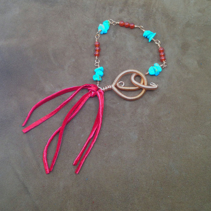 single strand dream catcher bracelet