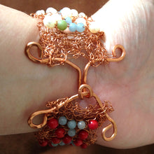 Load image into Gallery viewer, Clasp on knitted wire cuff by Buckaroo Bling