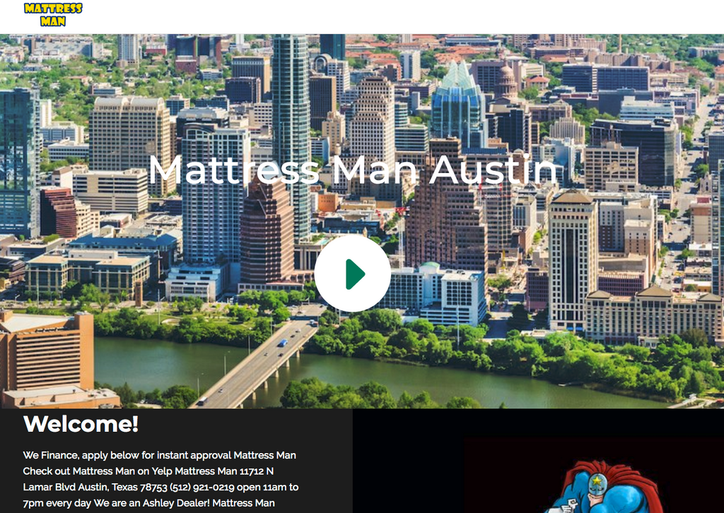 Mattress Man has a new website!