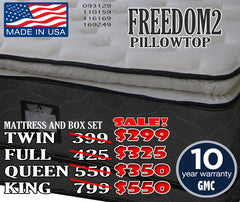 Freedom 2 Promo pillowtop