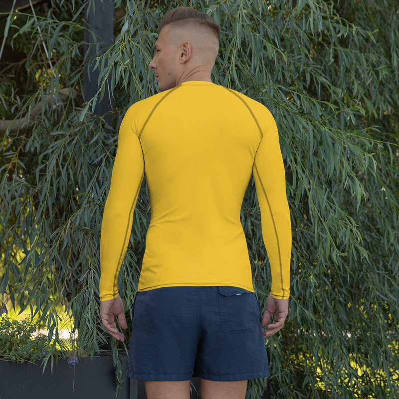 The Silent Monk Rash Guard (Yellow)