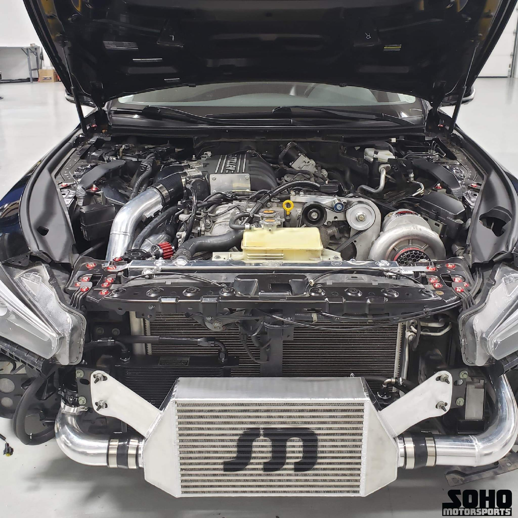 SOHO Motorsports Q50 Air to Air Upgrade for the Stillen VQ37VHR  Supercharger Kit