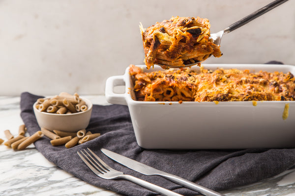 Spicy Tomato & Courgette Protein Pasta Bake