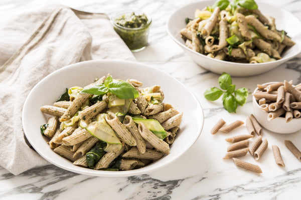 Protein Pasta with Courgette and Basil Pesto