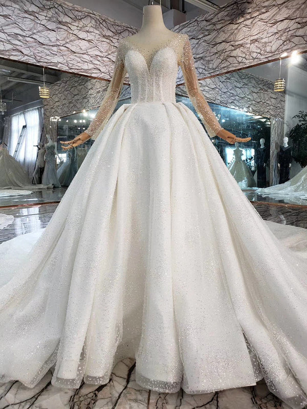 DM #w005 Simple V Neck Wedding Dress