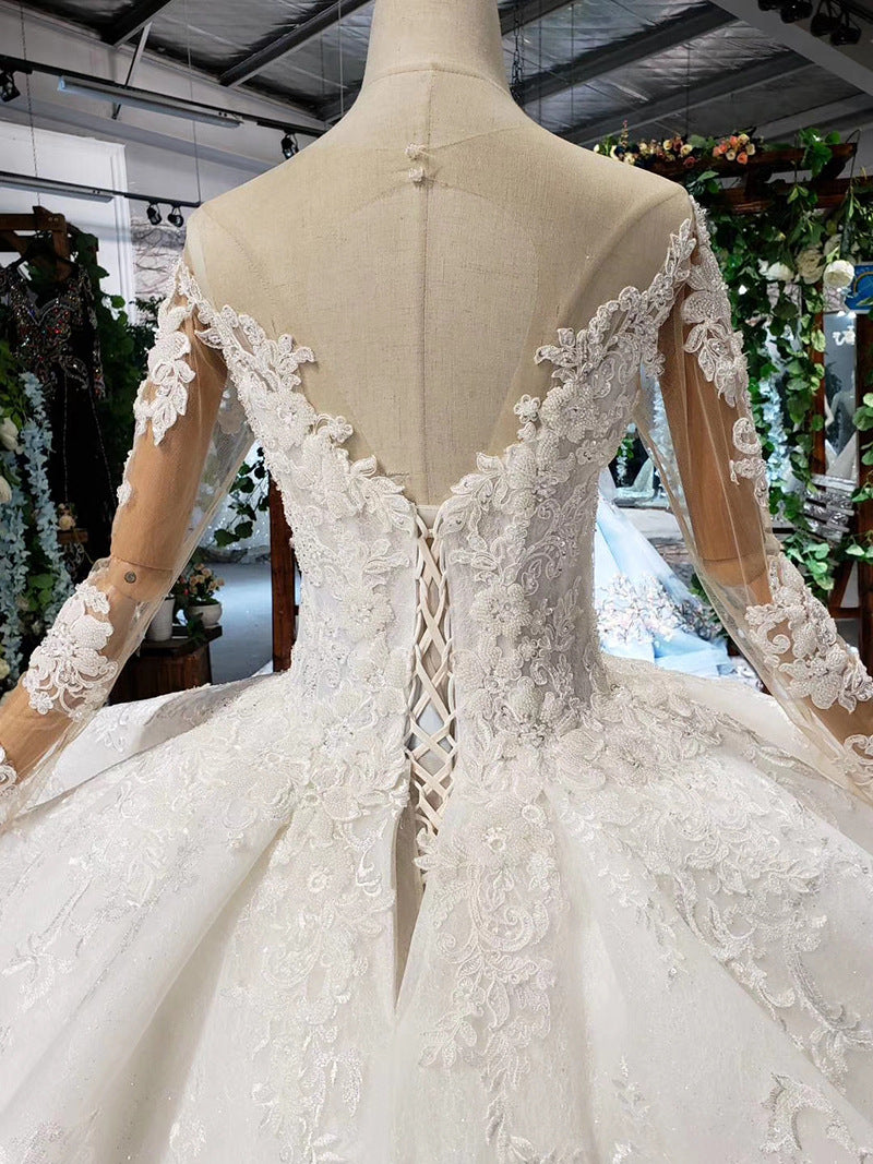 DM #w015 Lace Ball Gown Wedding Dress