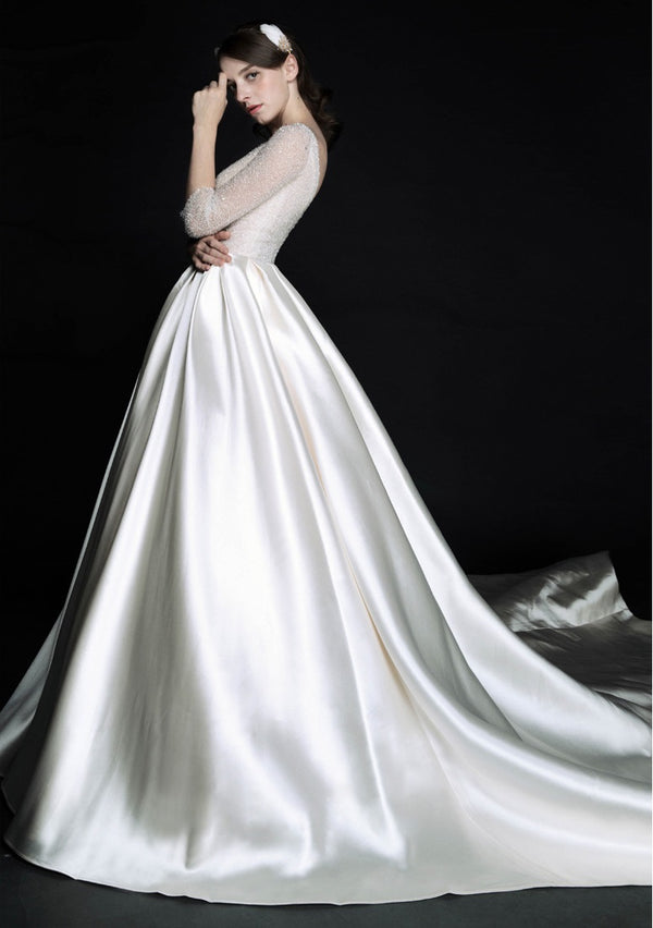 DM #w014 Elegant A-line Wedding Dress