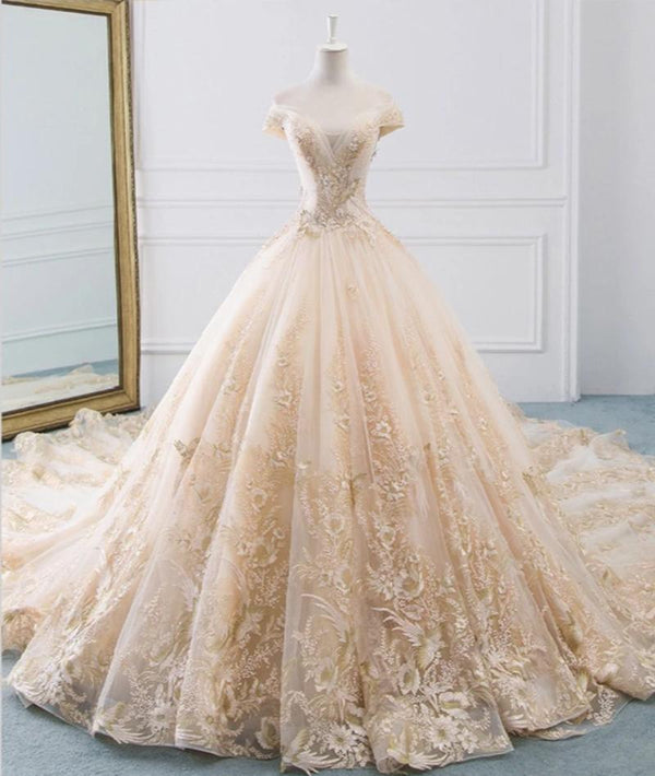 DM #w009 Flower Ball Gown Wedding Dress