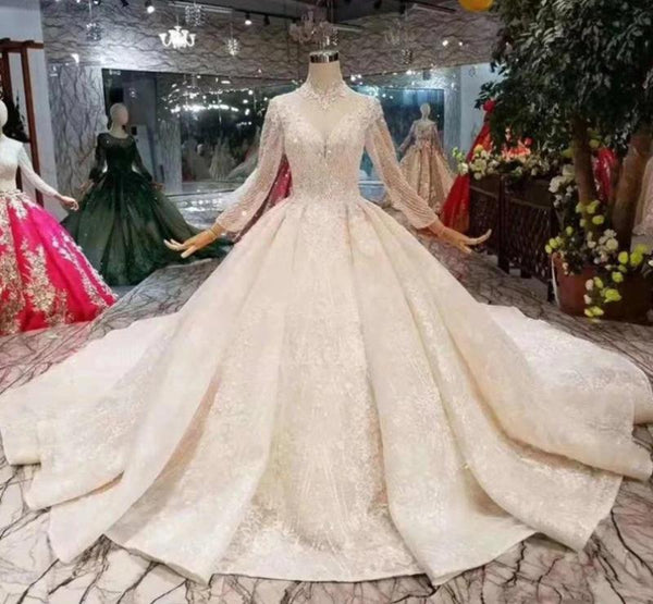 DM #w002 Long Sleeves Bridal Wedding Dress