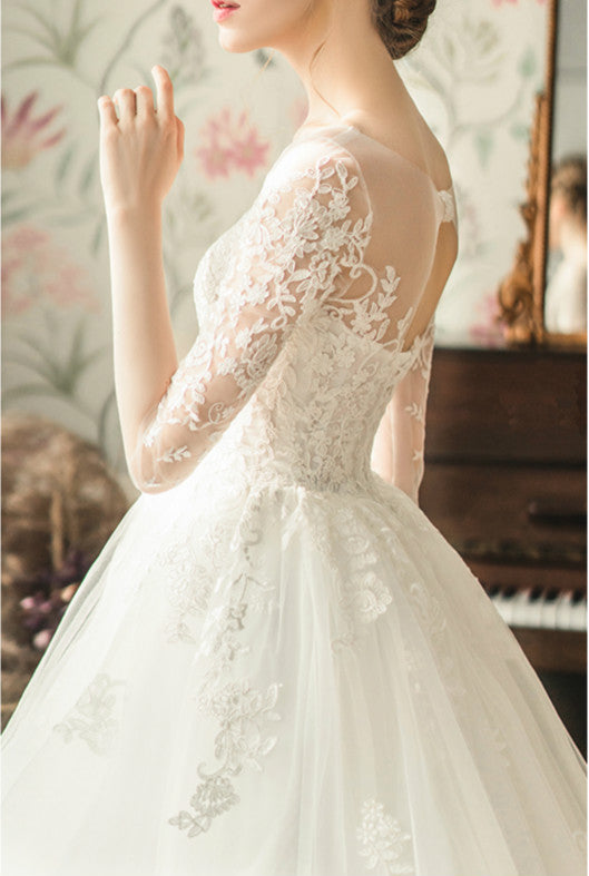DM #w025 Fairy Dream Off Shoulder Light Wedding Dress