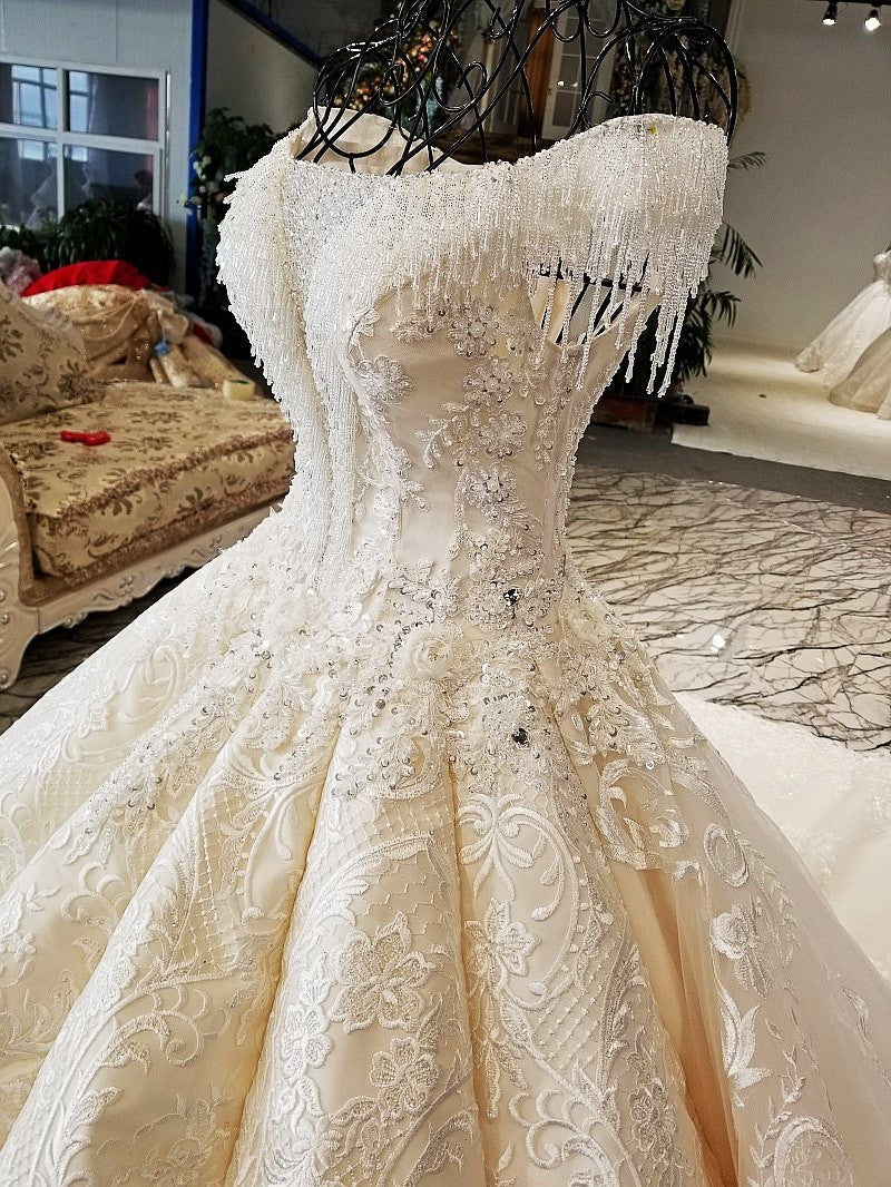 DM #w006 V Neck Wedding Dress