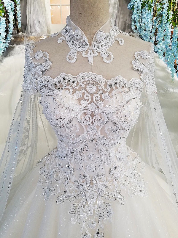 DM #w020 Luxury Wedding Dress with Sleeves
