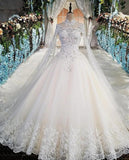 DM#020 Luxury Wedding Dress with Sleeves