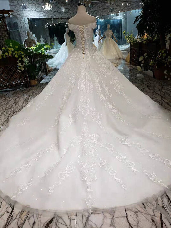 DM #w017 Simple Wedding Dresses Sweetheart Handmade Bridal Dresses