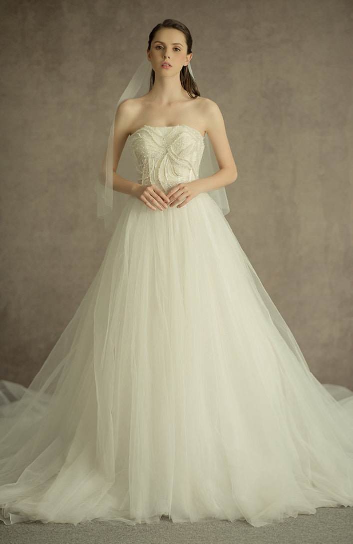 DM #w034  Graceful Wedding Dress Off The Shoulder Wedding Gowns