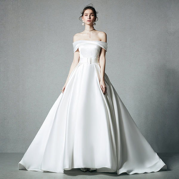 DM #w040 Graceful Off the Shoulder Wedding Dress