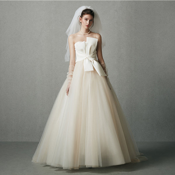 DM #w031  Strapless Wedding Dress with Bowknot
