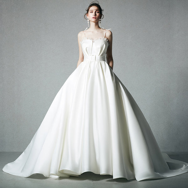 DM #w043 Satin Graceful Wedding Dress Ball Gowns