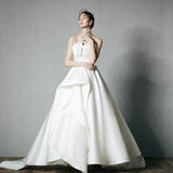 DM #w032 Graceful Wedding Dress Bridal Gown braces