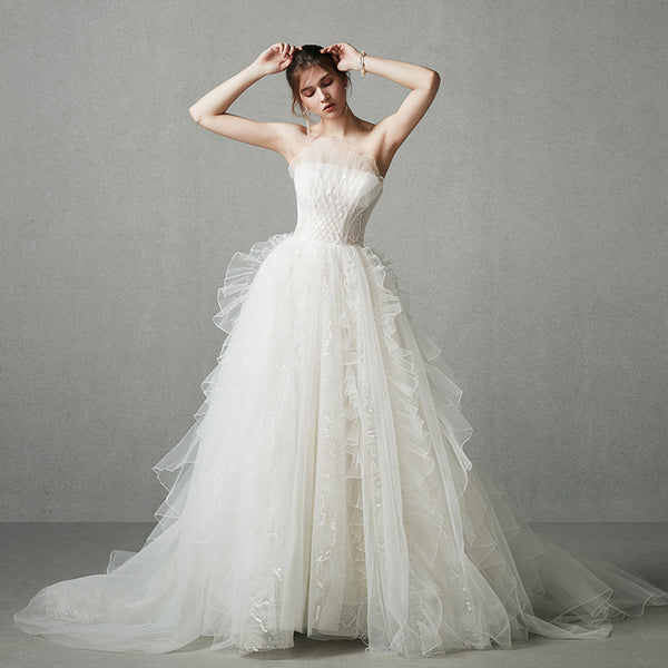 DM #w044 Sweet Wedding Dress Tube Dress