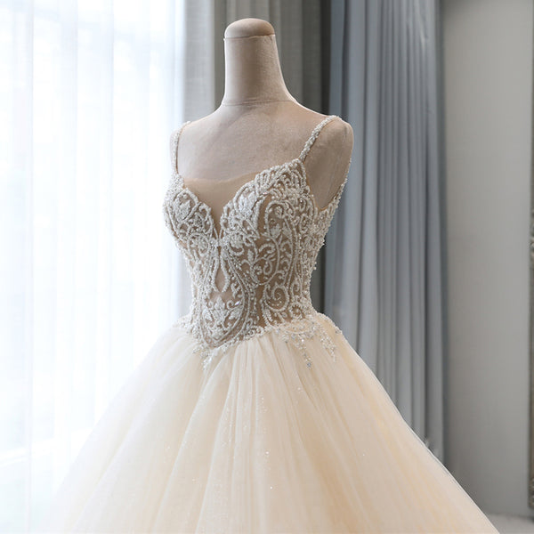 DM #w050  Beautiful Princess Ball Gown Bridal Wedding Dress