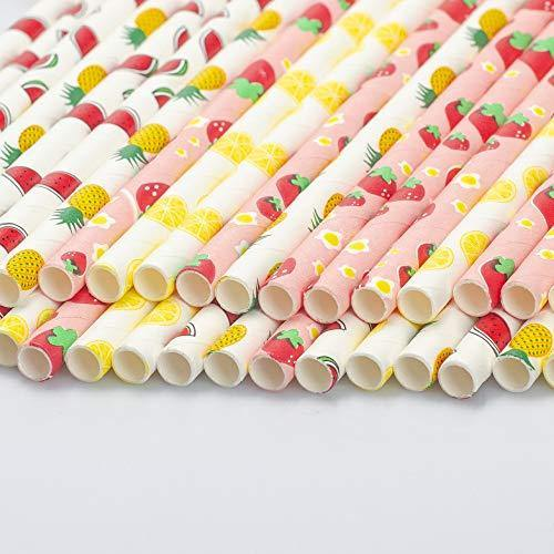 Details about  /25Pcs Rose Gold Paper Drinking Straw for Birthday Wedding Party Baby Coffee Shop