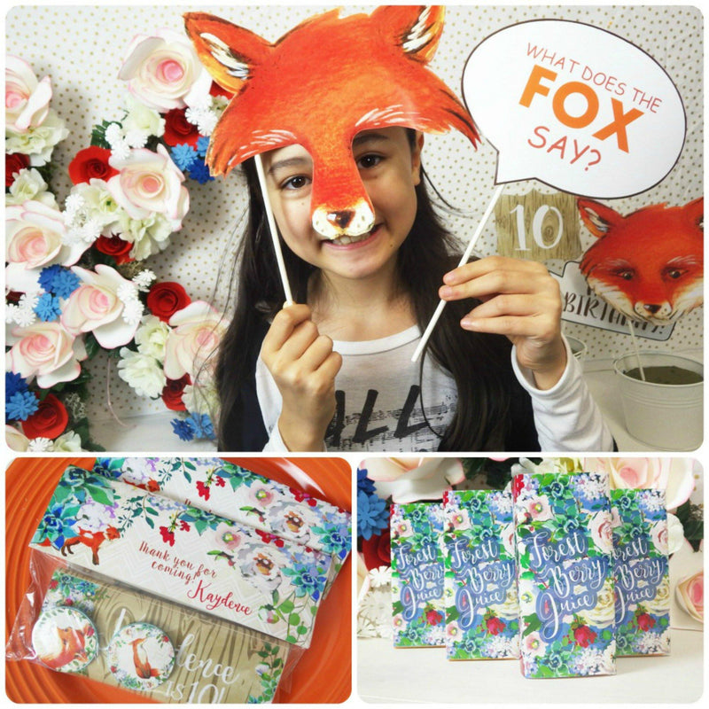 Fox Lunch Napkins Forest Fox Birthday Decorations Favor Party Supplies