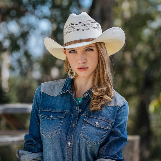 The Palomino Bangora Straw Vented Cowboy Hat By Stampede