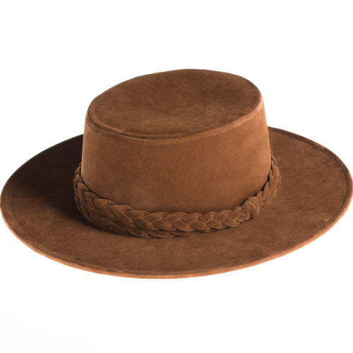Sweet Hazel Gambler Hat, Asn hats, suede, Willow Lane