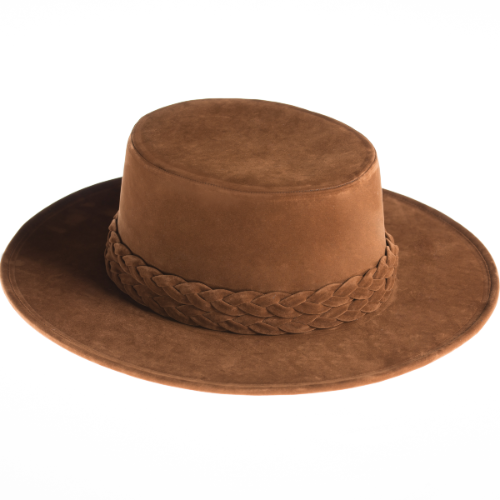 Sweet Hazel Gambler Hat, Asn, suede, Willow Lane