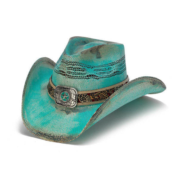 Women's Straw Cowboy Hat | Stampede | Blue | Filly