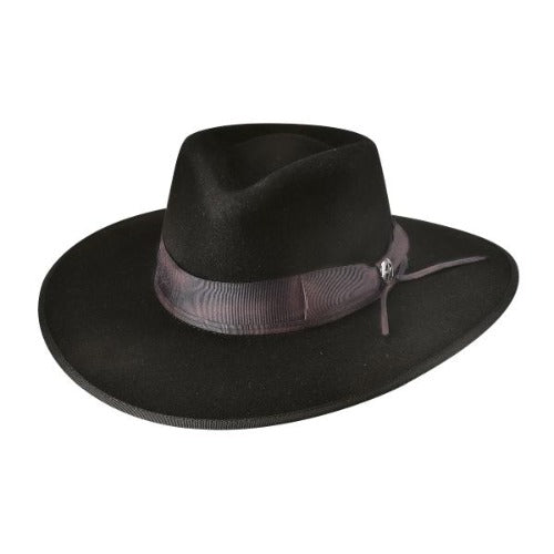 Brown wool bullhide hat with brown band