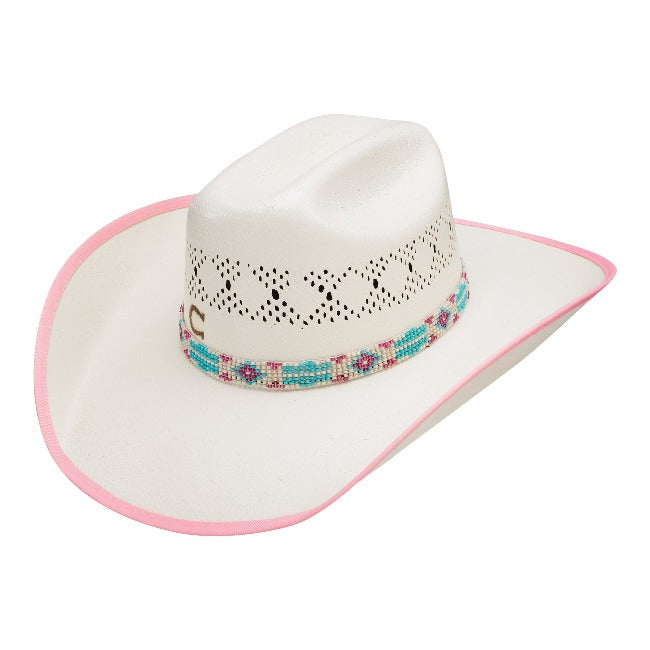 kids charlie 1 horse hat with diamond venting and blue beaded hatband