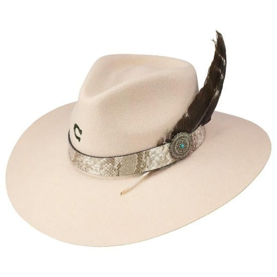 Charlie 1 Horse Wool Felt Hat - The Sidewinder in Silverbelly