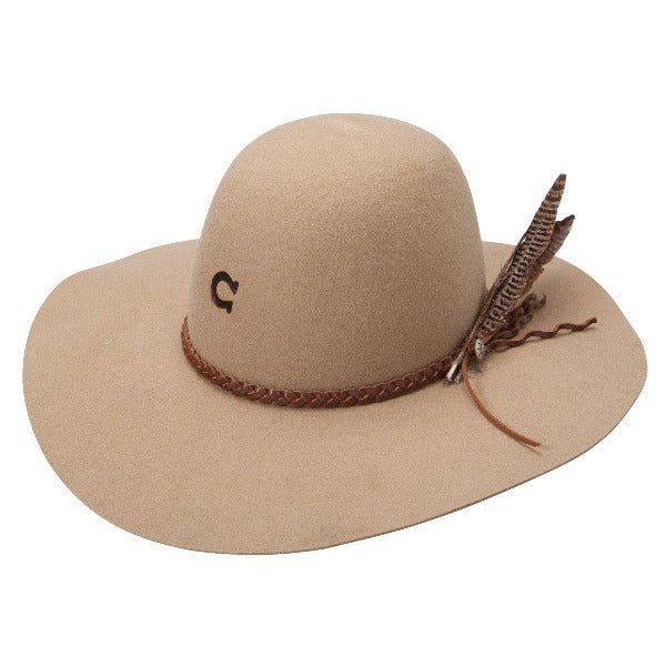 Charlie 1 Horse Western Hat with round top. Wanderlust in sand color