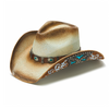 Western Cowboy hat with Blue trim Details