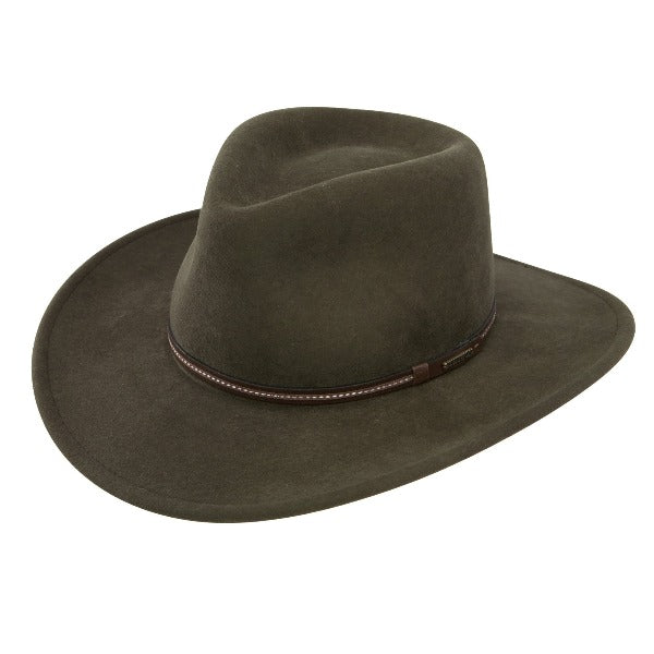 Stetson Felt Western Outdoor Hat | Gallatin | Sage | Packable