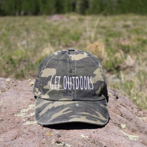 Camouflage Distressed David & Young Baseball Cap - GET OUTDOORS