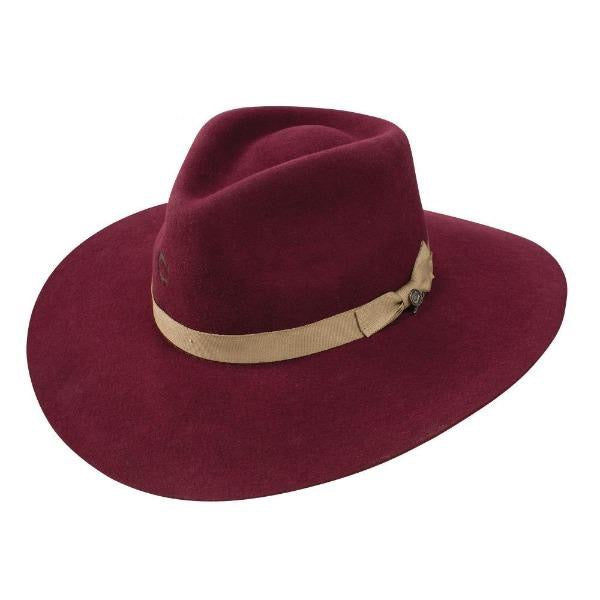 Charlie 1 Horse Highway Hat in Burgundy