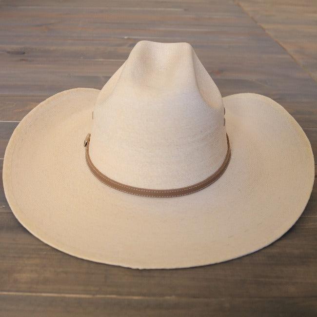 Atwood Palm Cowboy Hat | Grasshopper | White | Vented Crown