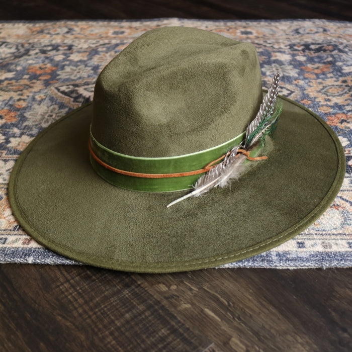 Green Rancher Fedora Hat - Envy