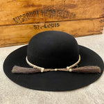 Amish Felt Western Hat | Atwood | Horse Hair Band | Black