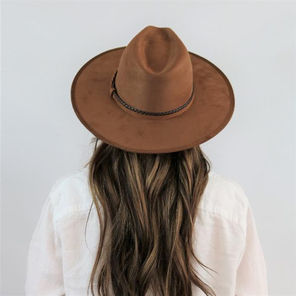 The Summit Wide Stiff Brim Fedora, Brown stiff brim hat, women's hat, willow lane, asn
