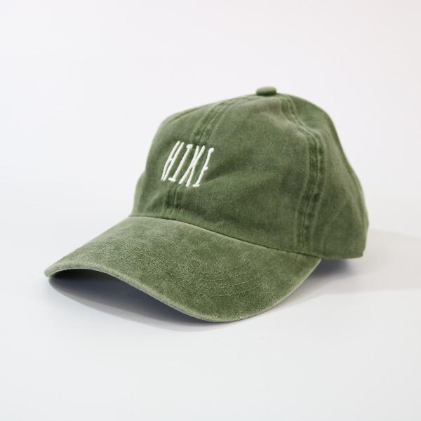 David and Young Distressed Army Green Baseball Cap - HIKE