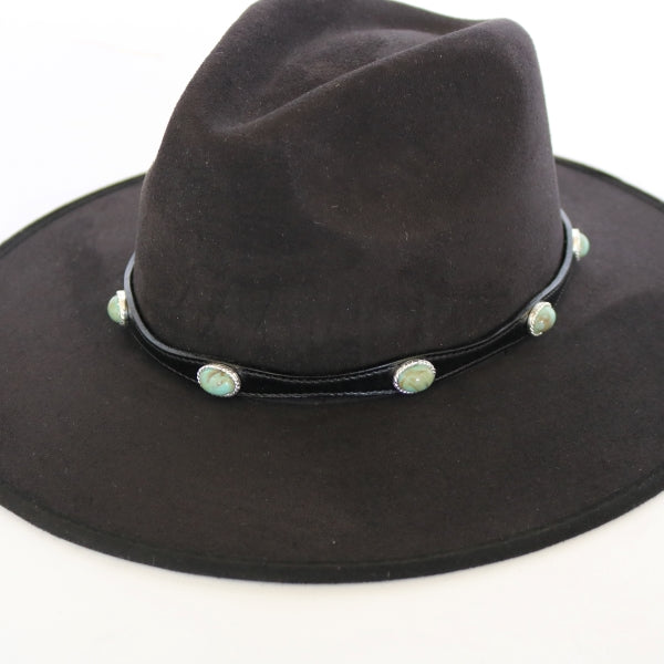 Hat Bands | Leather | Turquoise Stone | Robin