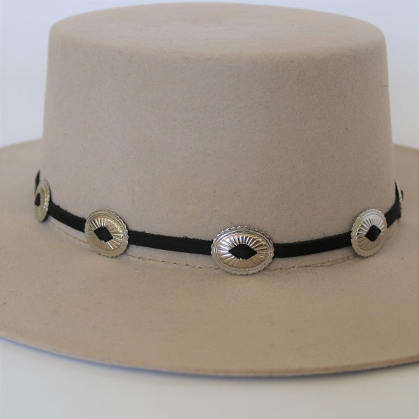 Hat Bands | Black Leather | Round Up
