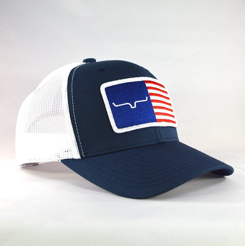 Kimes Ranch American Trucker Hat | Navy | American flag