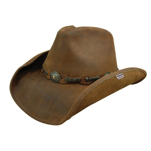 Stetson Roxbury Leather Cowboy Hat - Rust
